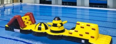 Plataforma d'aigua obstacles – 11*2,5m*2m
